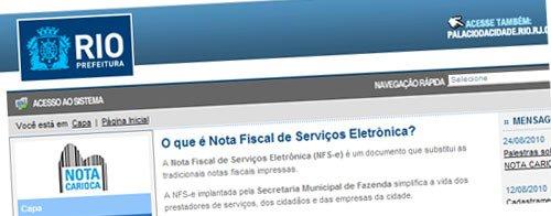 Cadastro no Nota Fiscal Carioca NFC Informações