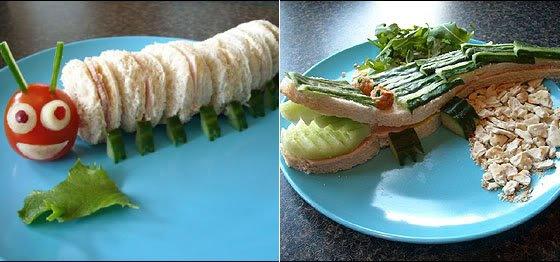 sanduiche escultura  Comida divertida faz a alegria da criançada